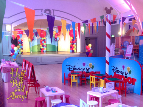 BOTANICAL GARDENS: Disney Junior Party. Balloon decor by Huff, Puff and Away!
