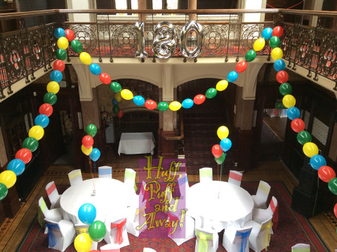 Highbury decorated for a party to celebrate L&G's 180th