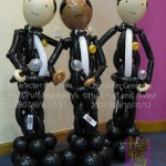 Our balloon 'Rat Pack': Sammy, Frank and Dean, Character Greeters by Huff, Puff and Away!