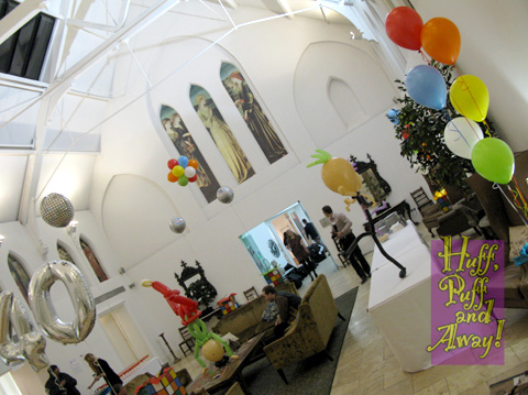 Recent decor for a corporate party at Fazeley Studios.