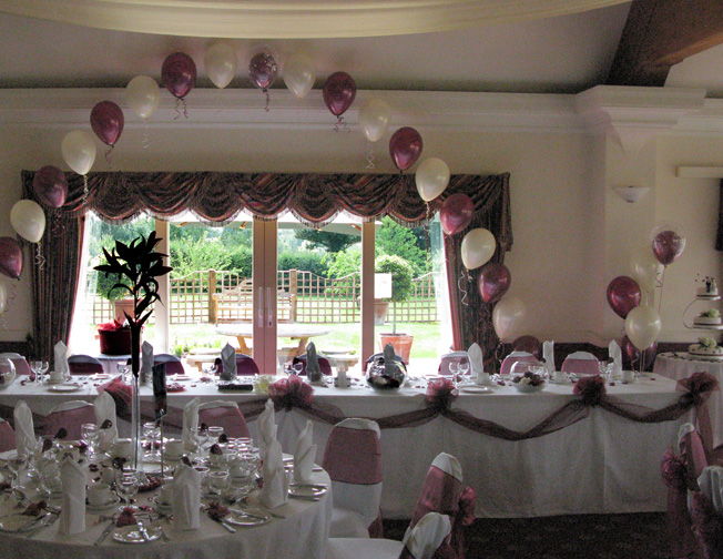 Henley golf club a recent wedding with the room decorated with 5