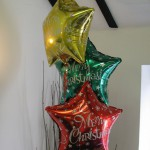3-balloon Cluster using all foils