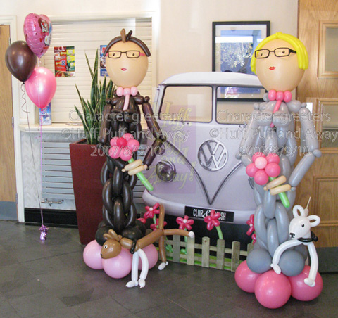 Balloon Happy Couple by Huff, Puff and Away!