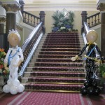 The Queen and Prince Philip Character Greeters greet guests at the Birmingham Council House Jubilee Celebrations. Huff, Puff and Away! the best balloon people