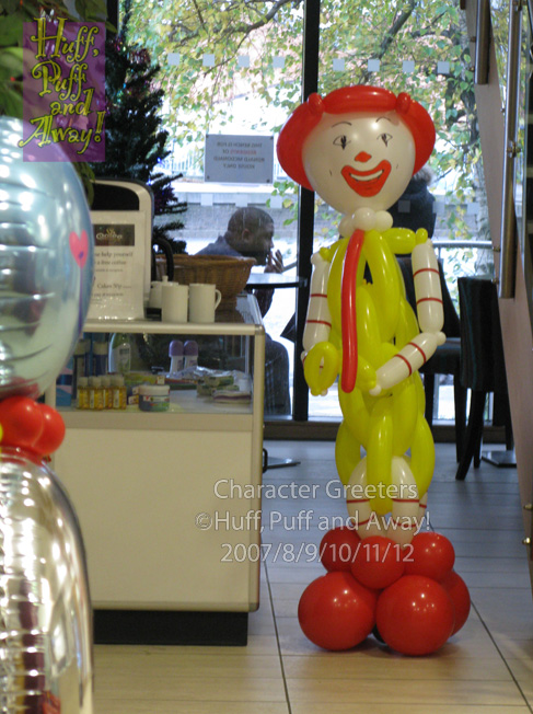 Ronald McDonald House 3rd Birthday Celebrations, Clown by Huff, Puff and Away!