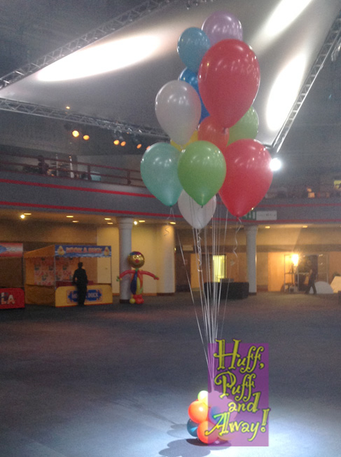 Colourful balloon Cluster by Huff, Puff and Away!
