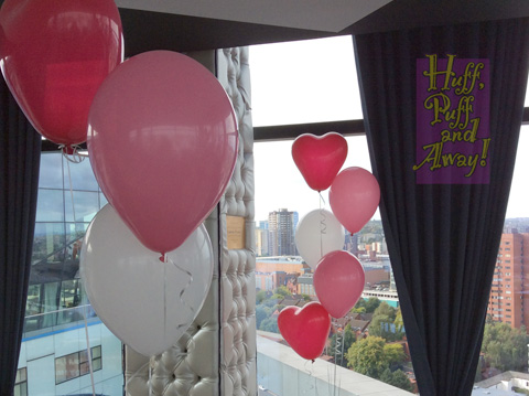 5-balloon Clusters with Heart-shaped top balloons